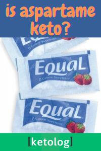 is aspartame keto