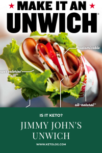jimmy johns unwich keto